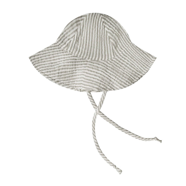 Rylee and cru olive green stripe baby sun hat