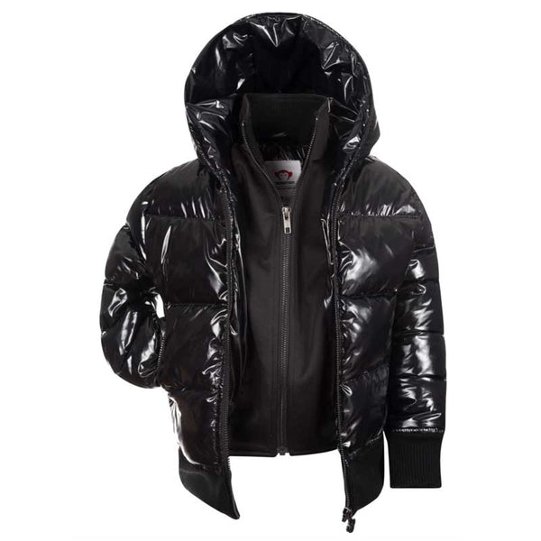 Appaman Flurry Girls Coat - Shiny Black