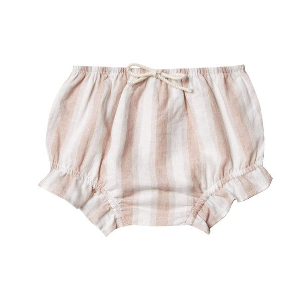 Rylee and cru pink and white stripe baby girl bloomers