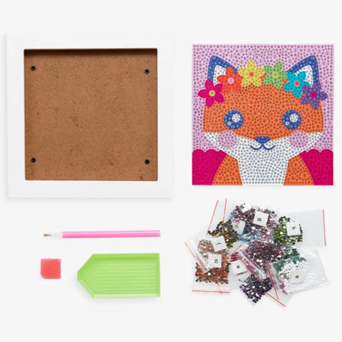 Ooly Razzle Dazzle DIY Gem Art Kit - Friendly Fox