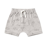 Rylee and cru grey shark print knit baby boy shorts