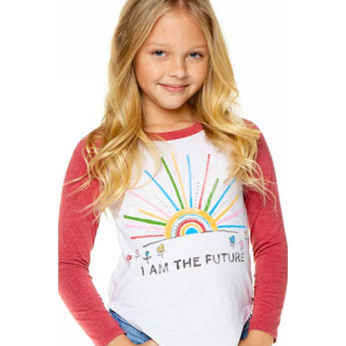 Chaser I Am The Future Baseball Girls Tee
