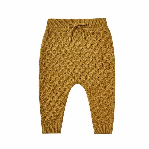Rylee and cru mustard sweater baby pants