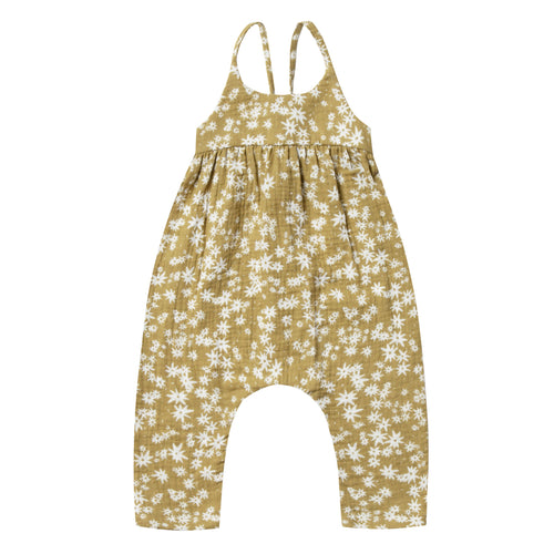 Rylee and cru daisy print baby girl jumpsuit