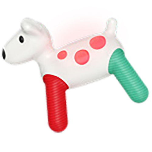 Glowing baby dog rattle