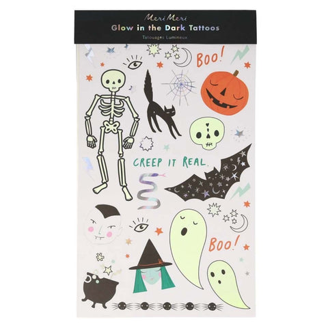 Meri Meri Glow in the Dark Halloween Tattoos