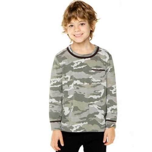 Chaser Green Camo Long Sleeve Top