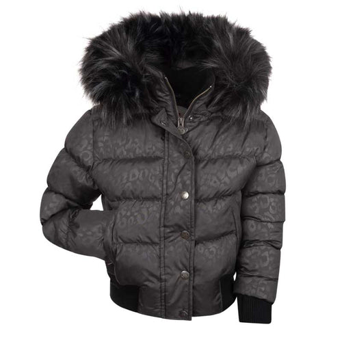 Appaman Kyla Puffer Girls' Coat - Grey Leopard