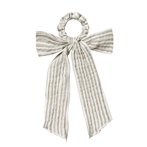 Rylee and cru green stripe bow girls hair scrunchie