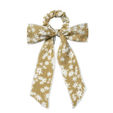 Rylee and cru daisy print bow girls hair scrunchie