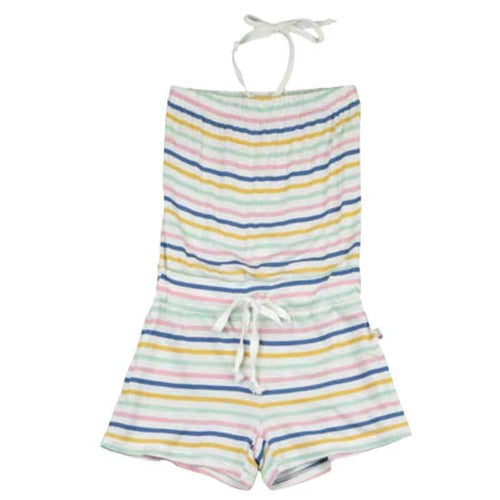 T2Love striped tween girl shorts romper with halter tie