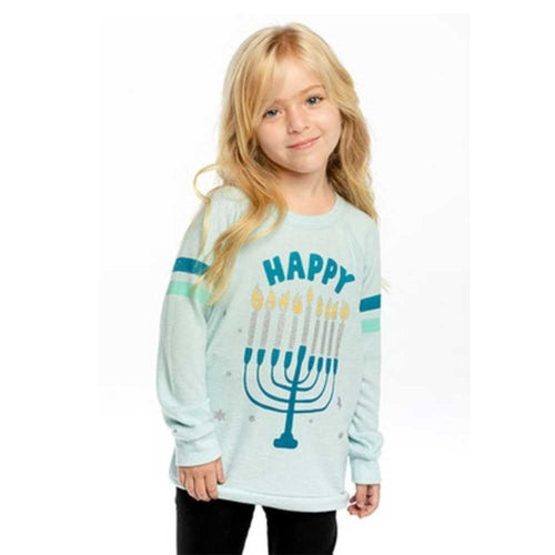 Chaser Hanukkah Girls Love Knit Pullover