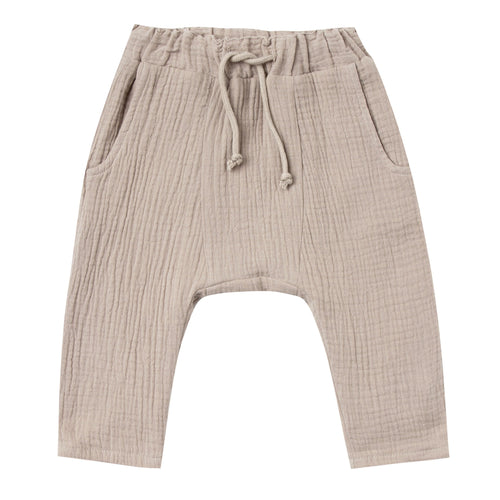 Boys khaki baggy pull on pants