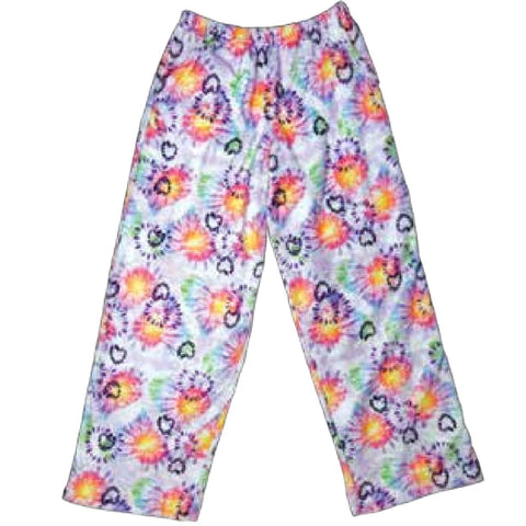 iScream Heart Tie Dye Plush Girls Pants