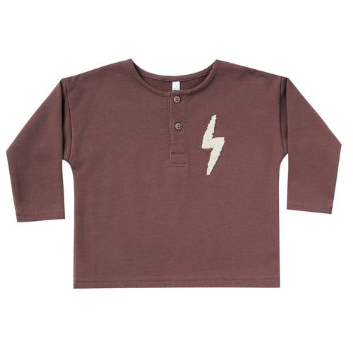 Rylee and Cru Wine Bolt Henley Boys Tee