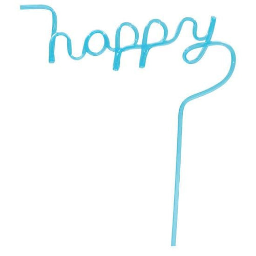 Reusable Happy Shaped Straws by iScream