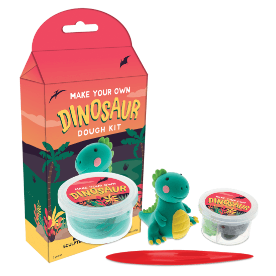 kit for building clay-like dinosaur
