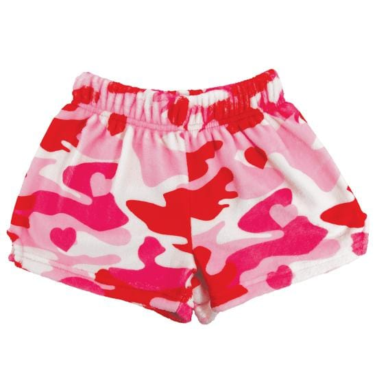 Camo Hearts Plush Girls Shorts by iScream