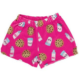 Milk and Cookies Plush Girls Shorts by iScream