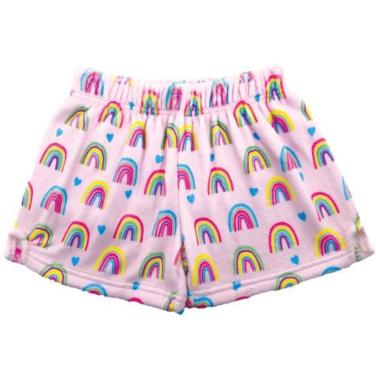 Rainbows and Hearts Plush Girls Shorts by iScream