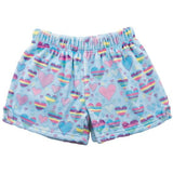 Striped Hearts Plush Girls Shorts by iScream