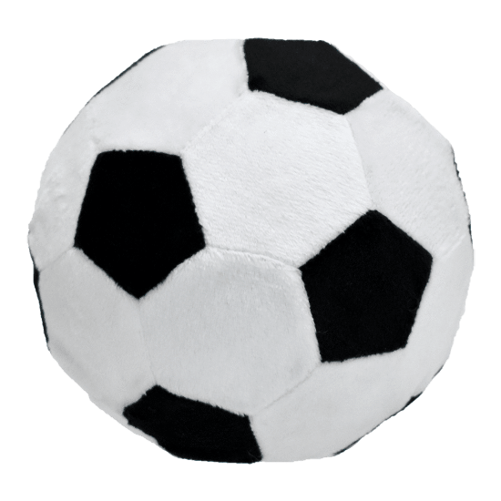 black and white soccer ball round pillow