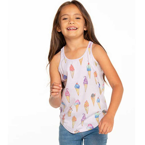 Chaser Ice Cream Cones Vintage Jersey Girls Tank