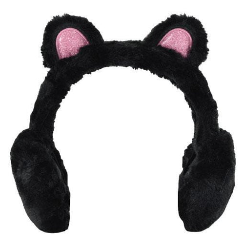 iScream black panda girls ear muffs