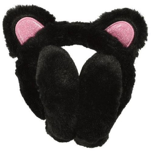 iScream black panda furry girls ear muffs