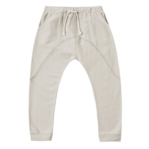 Boys baggy khaki pants with drawstring
