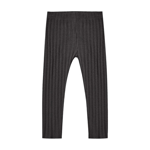Rylee and Cru Vintage Black Rib Knit Leggings