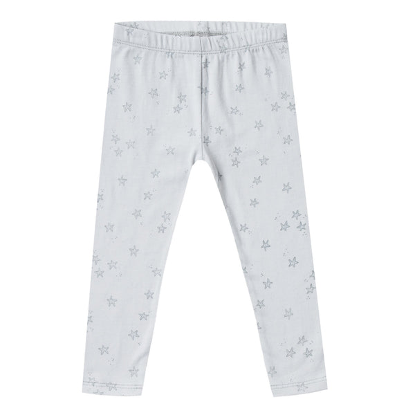Girls light blue leggings with starfish print