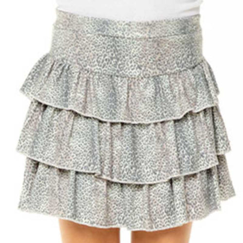 Chaser Kids Cheetah Ruffle Tiered Skirt