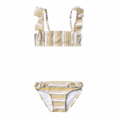 Rylee and cru stripe ruffle girls bikini swimsuit