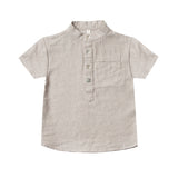 Rylee and cru grey collared boys shirt