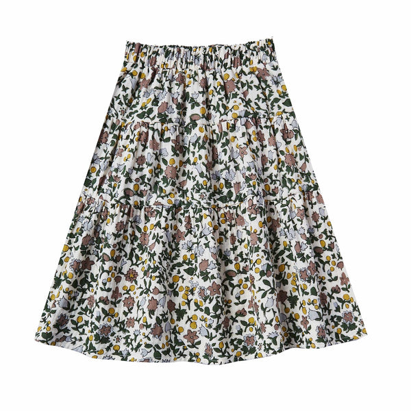 Rylee and Cru Enchanted Garden Girls Maxi Skirt