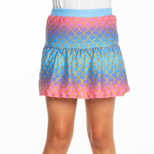 Chaser Mermaid Scales Cozy Knit Girls Skort