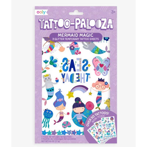 Ooly Tattoo Palooza Temporary Tattoo - Mermaid Magic
