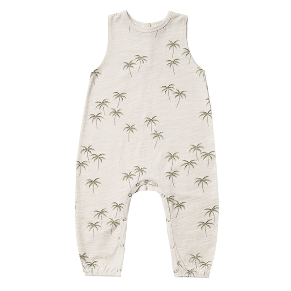 Rylee and cru sleeveless palm tree baby romper
