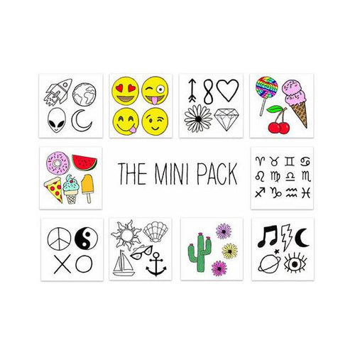 Mini Pack Temporary Tattoos by Inked