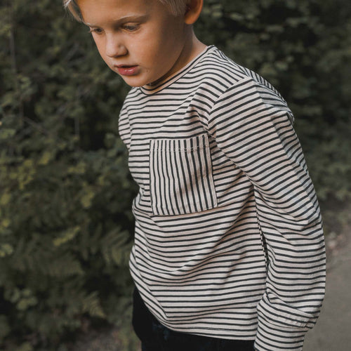 Rylee and Cru Striped Longsleeve Skater Tee