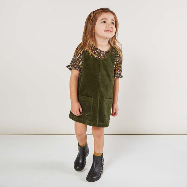 Rylee and Cru Forest Corduroy Girls Jumper