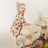 Rylee and Cru Mushroom Button Up Girls Dress