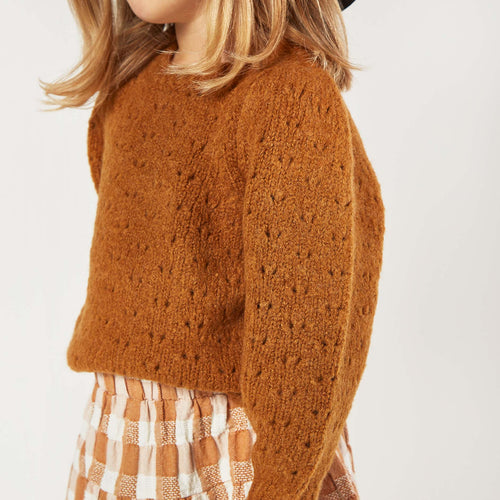 Rylee and Cru Cinnamon Balloon Girls Sweater
