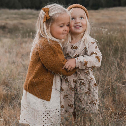 Rylee and Cru Goldenrod Gretel Girls Cardigan