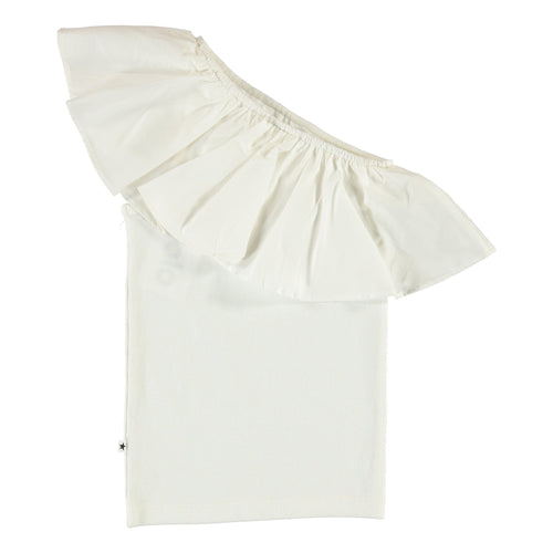 Molo white off the shoulder girls top