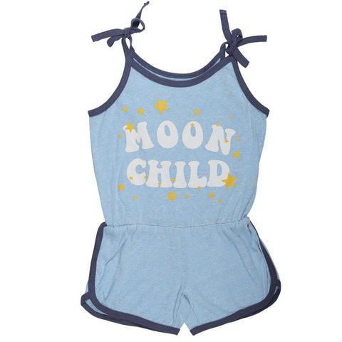 Tiny Whales Moon Child Girls Romper
