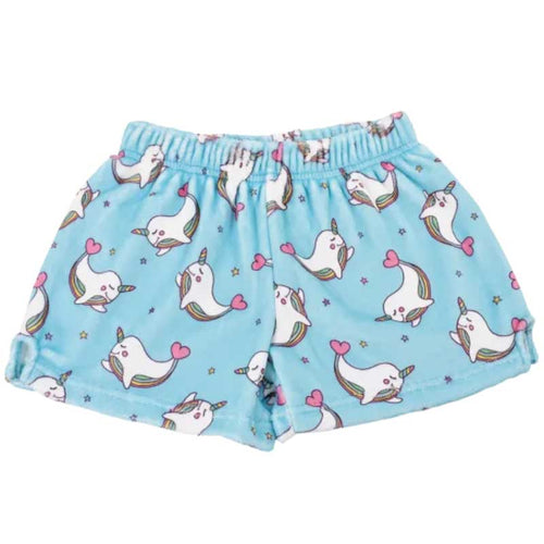 iScream Rainbow Narwhal Plush Girls Shorts