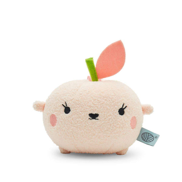 Noodoll peach mini stuffed animal plush toy for baby and toddlers
