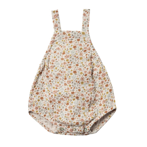 Rylee and cru flower print baby girl bubble romper